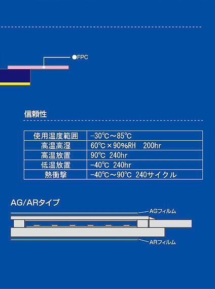 アナログ抵抗膜方式タッチパネル
